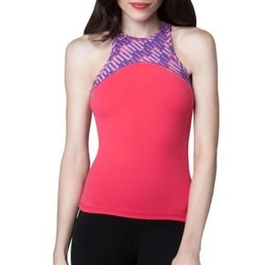 NWOT DYI Pink Purple Workout Yoga Tank Sz S